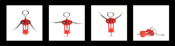 Move your body. Corkscrew made with four shots in diferent positions Royalty Free Stock Images
