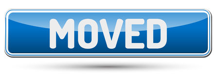 MOVED - Abstract beautiful button with text. Royalty Free Stock Photography