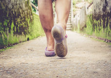Moveing-Frauen Stockfotografie