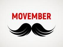 Movember Ícone do bigode do vetor Foto de Stock