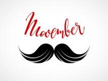 Movember Ícone do bigode do vetor Fotografia de Stock Royalty Free