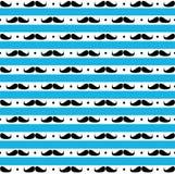 Movember bezszwowy wzór Fotografia Royalty Free