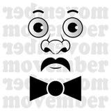 Movember - der Mann mit dem Schnurrbart und Fliege Lizenzfreies Stockfoto