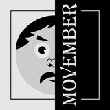 Movember - the head of a man with mustache Royalty Free Stock Photo