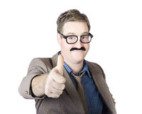 Movember man proud of his moustache Stock Photography