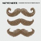 Movember mustache set royalty free stock photography