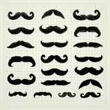 Movember mustache set royalty free illustration