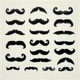 Movember mustaschuppsättning royaltyfri illustrationer