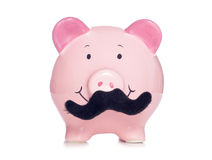 Movember piggy bank royalty free stock images