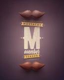 Movember Tid stock illustrationer