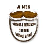 Movember vectorillustratie Bruine uitstekende snor Retro Inzameling Stock Afbeelding