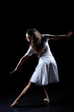 Movement. Figure of beauty ballerina in movement Royalty Free Stock Photography