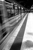 Movement. London underground in black and white Royalty Free Stock Photo