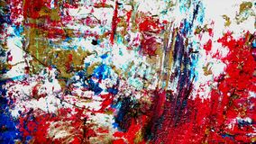 Movement Abstract oil colourful painting stock video footage