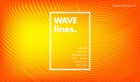 Abstract Wave Background. Movement Abstract. Wave Stripes. Geometric Template with Distorted Lines and Gradient. Flow Background in Minimal Style. Eps10 Vector royalty free illustration
