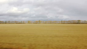 Movement along the agricultural fields (POV) Royalty Free Stock Photography