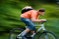 Movement of bicyclists Stock Photos