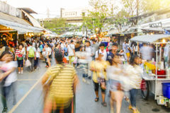 Movement blurred Unidentified tourist shoppings at Jatujak Market,JJ mall is the largest market and best market for tourist  in Th Royalty Free Stock Photography