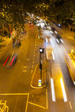 Movement Busy Traffic at Night, London, England Stock Photo
