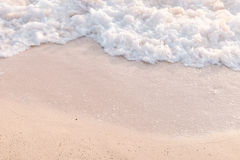 Movement of calm sea wave. On the beach stock photo
