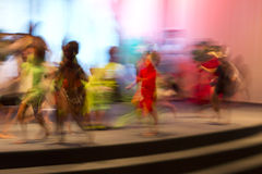 Movement captured with slow shutter speed Stock Image