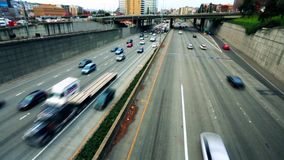 Movement of cars on the highway.  stock footage