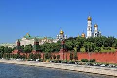 The movement of cars on the Kremlin Embankment stock image
