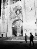 Movement in cathedral. Street  city  lisbon Stock Images