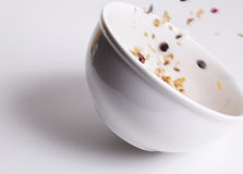 Movement cereal bowl Royalty Free Stock Images