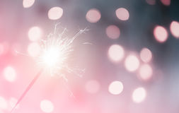 Movement of Christmas and newyear party sparkle Stock Images