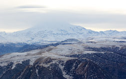 Movement of the clouds on the mountains Elbrus, Northern Caucasu Royalty Free Stock Photos