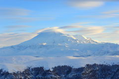 Movement of the clouds on the mountains Elbrus, Northern Caucasu Stock Photography