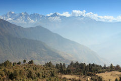 Movement of the clouds on the mountains, Himalayas Stock Photos