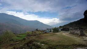 Movement of the clouds on the mountains, Himalayas, Nepal stock footage