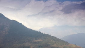 Movement of the clouds on the mountains, Himalayas, Nepal stock video footage