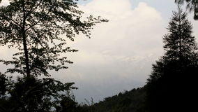 Movement of the clouds on the mountains, Himalayas, Nepal stock video
