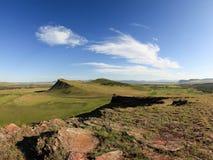 Movement of Clouds over the mountain ridge Sunduki. Republic of Stock Photo