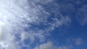 The movement of clouds in the sky stock footage
