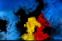 The movement color liquids Royalty Free Stock Photography