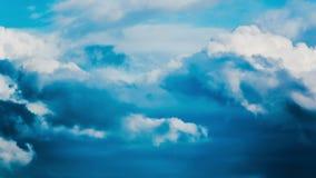 The Movement of the Dark Rain Clouds stock video