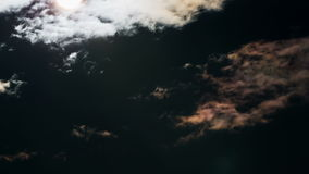 The Movement of the Dark Rain Clouds. Cumulus clouds cover the sun's rays, TimeLapse stock video