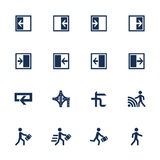 Movement direction icons Stock Image