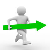 Movement direction to success. Isolated 3D image Royalty Free Stock Photo