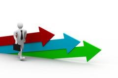 Movement direction to success. 3d illustration of Movement direction to success Royalty Free Stock Photos