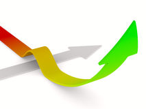 Movement direction to success. 3D image Stock Image