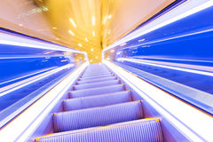 Movement of escalator Royalty Free Stock Images