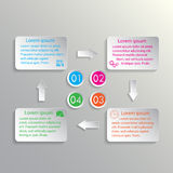Movement of four steps. Info-graphic background for your design stock illustration