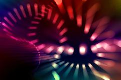 Movement of lights. Royalty Free Stock Images