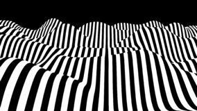 Movement lines illusion. Abstract wave whith black and white curve lines. Vector optical illusion. Movement lines illusion. Abstract wave whith black and white vector illustration