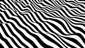 Movement lines illusion. Abstract wave whith black and white curve lines. Vector optical illusion. Movement lines illusion. Abstract wave whith black and white royalty free illustration